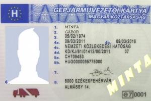 Gépjárművezetői kártya cseréje