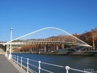 Zubizuri híd , Bilbao_Spanyolország